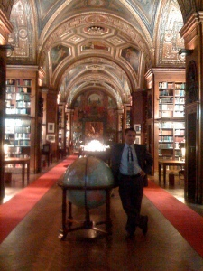 I don't know who this guy is, but this is a picture of the inside library.  The entire place looked like this.